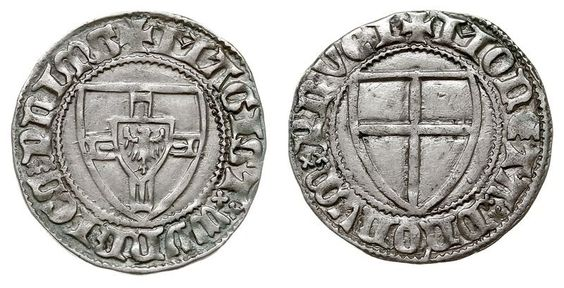 NumisBids: Warszawskie Centrum Numizmatyczne Auction 57, Lot 194 : MIDDLE AGES; Teutonic Knights / Deutsche Order - Winrich von Kniprode...