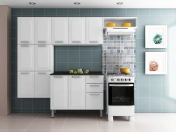 Cozinha Compacta Itatiaia Luce - Itatiaia + Balcão com Tampo 3 Portas 2 Gavetas