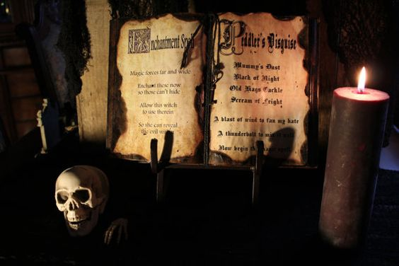 spell books creepy halloween - photo #19