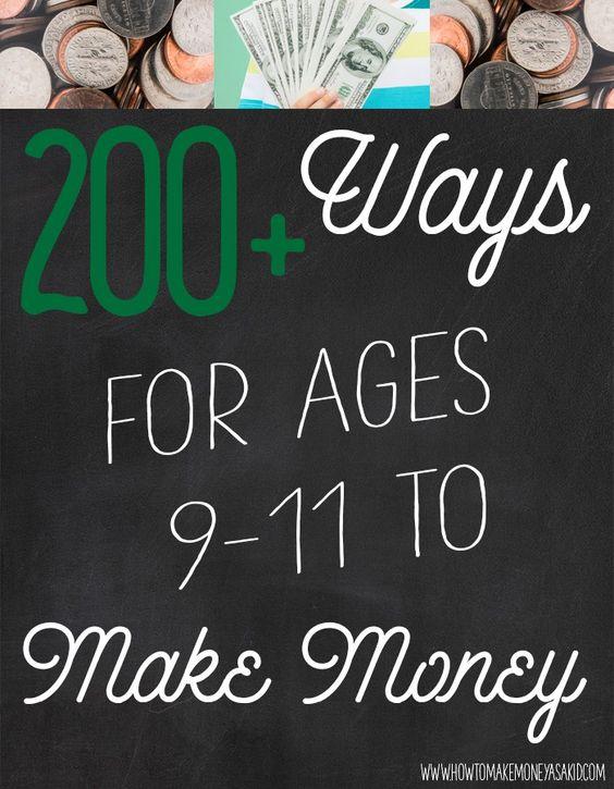 How can a teen make money?