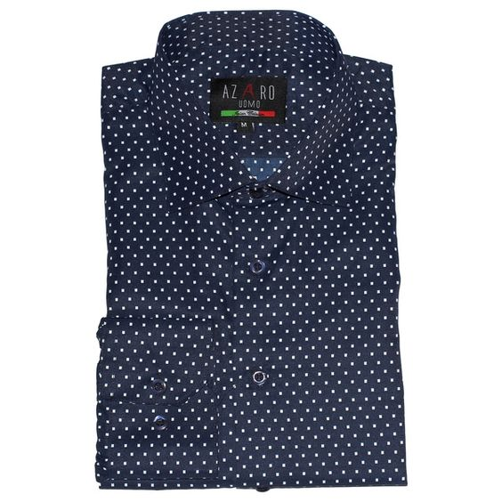 Azaro Uomo Men's Kamen Navy Button Down