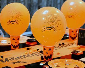Ballon orange fête halloween avec arraignée http://www.tendance-ephemere.com/ballon-halloween-orange-23cm,fr,4,BALHALOG23S8.cfm