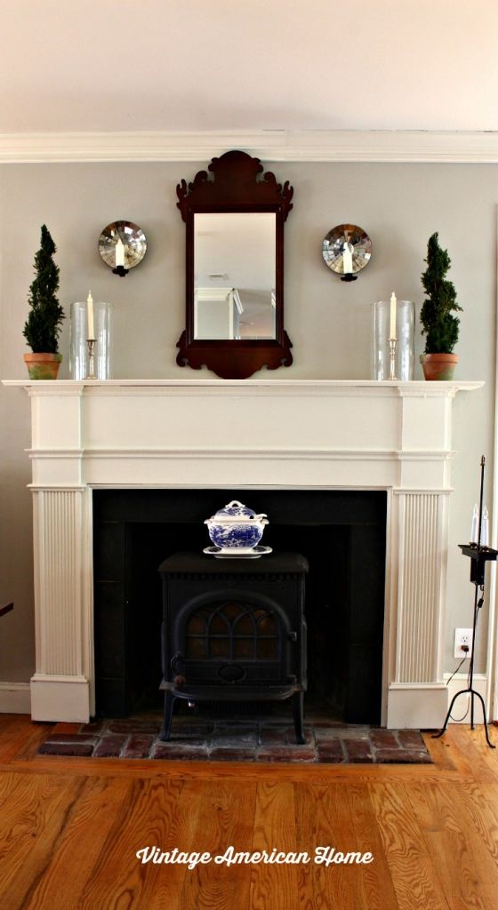 Mantels benjamin moore paint and revere pewter on pinterest for American white benjamin moore