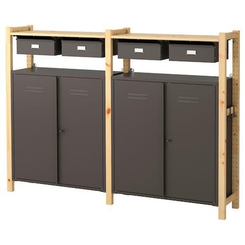Ivar 1 Sec Storage Unit W Foldable Table Ikea Ikea Ivar Ikea Storage Furniture
