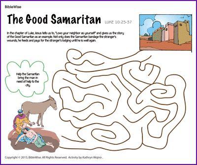 Good Samaritan Story (Jesus' Parable) - Kids Korner ... |The Good Samaritan For Preschoolers