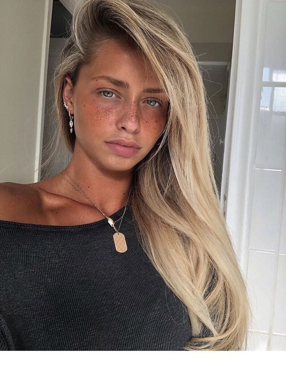 Tan With Blonde Hair