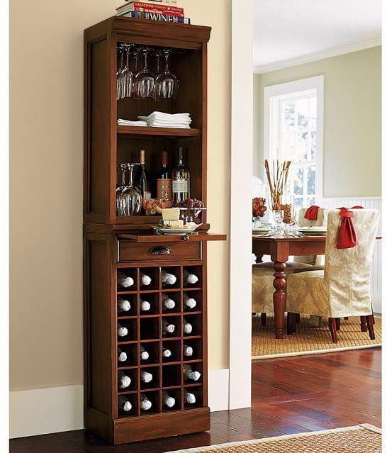 Pottery Barn Modular Bar With Wine Grid Tower Bardecorforhome Small Bars For Home Home Bar Designs Corner Bar Furniture