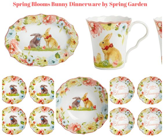 Spring Blooms Bunny Dinnerware by Spring Garden