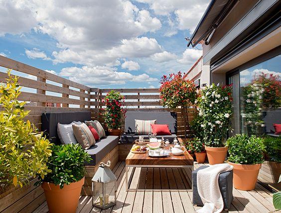 Terrazas peque as 8 decoracion pinterest terrace - Decoracion para terrazas exteriores ...