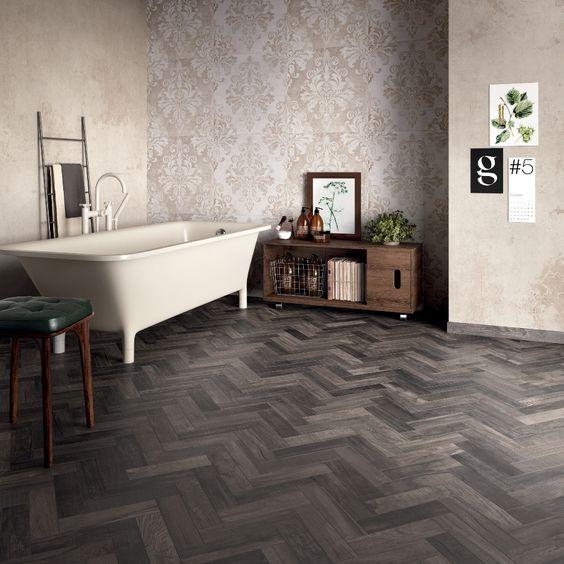 Un bagno in stile #abkemozioni abbina il pavimento dolphin coal ...