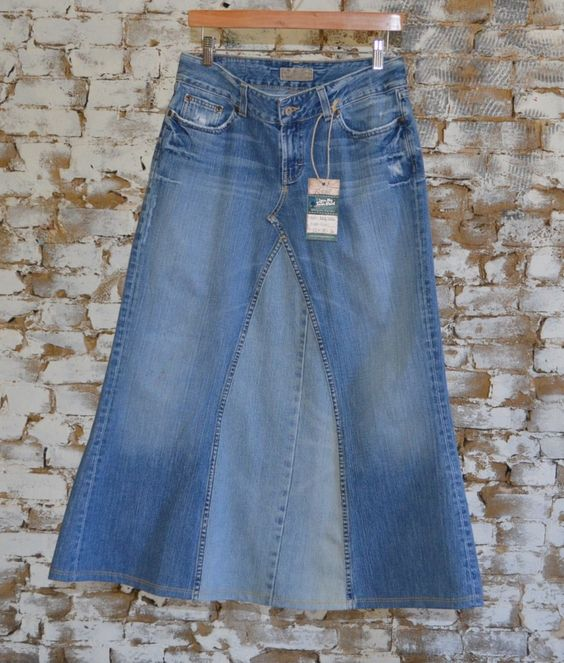 Perfect Long Modest Distressed Jean Skirt from size 5/6 Buckle ...