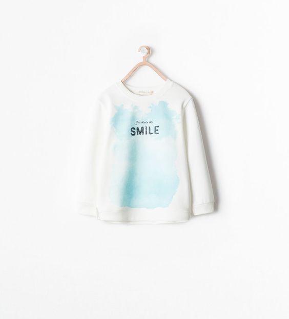 Imagem 1 de SWEATSHIRT TEXTO LANTEJOULA da Zara