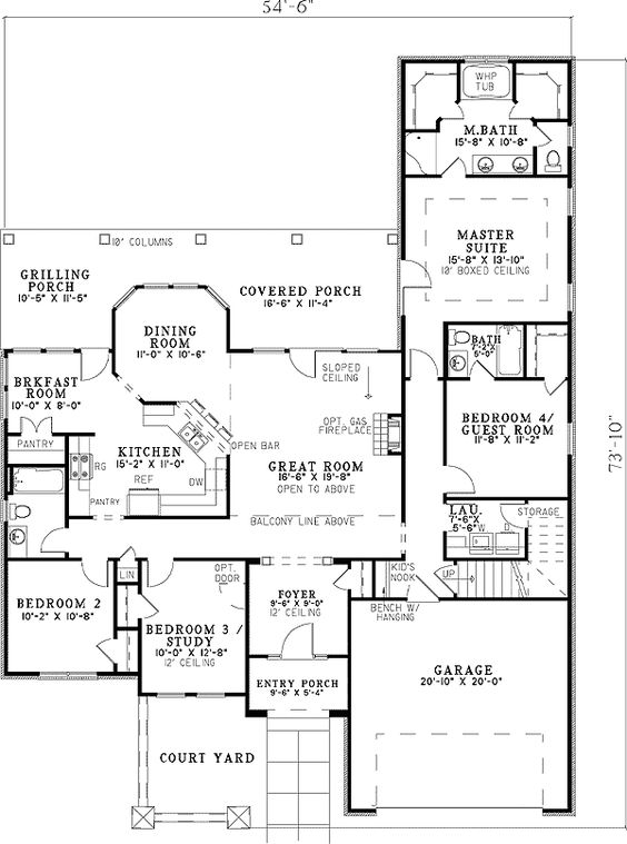 Home theaters  Interior columns and Tuscan house plans on PinterestHome Theater and a Loft   ND   st Floor Master Suite  Bonus Room