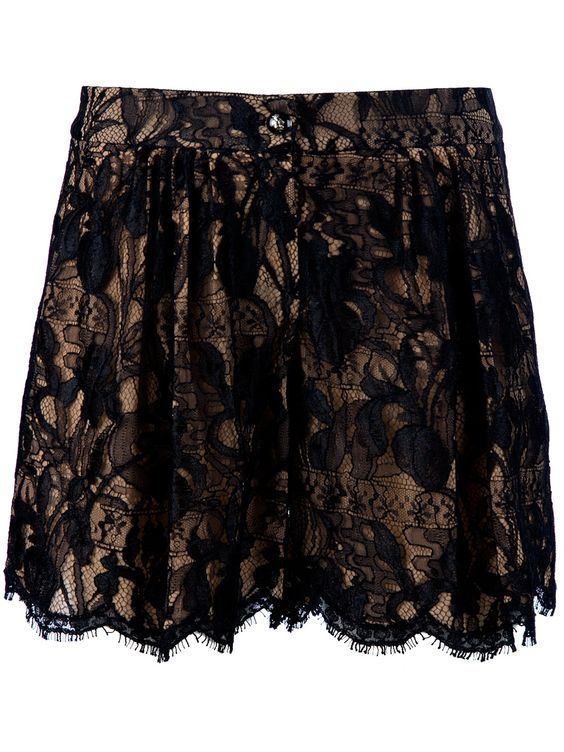 Black lace shorts from Emilio Pucci