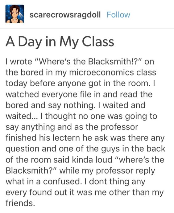 Where's the blacksmith tag on Tumblr