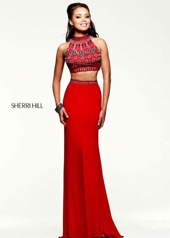 Sherri Hill 11068 Red Two Piece Gown - This brilliantly designed ...