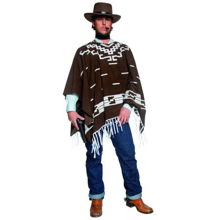 Wild West-party Poncho-Clint Eastwood-Costume-MESSICANO-Authentic