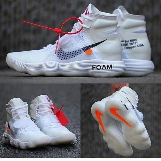 Nike X Off White Air Hyperdunk Flyknit White Sneakers Men Fashion Sneakers Fashion Hype Shoes