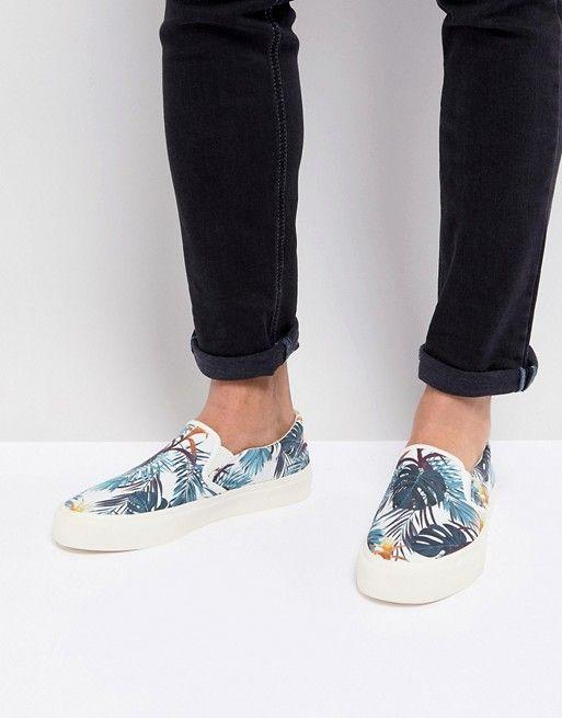 ASOS | ASOS Slip On Sneakers In Floral