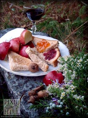 A feast set out for the faerie folk who live on the hill with us.