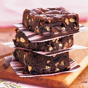 Kitchen Sink Brownies - wondering if they would be great with the addition of dried cherries....hmmmm.