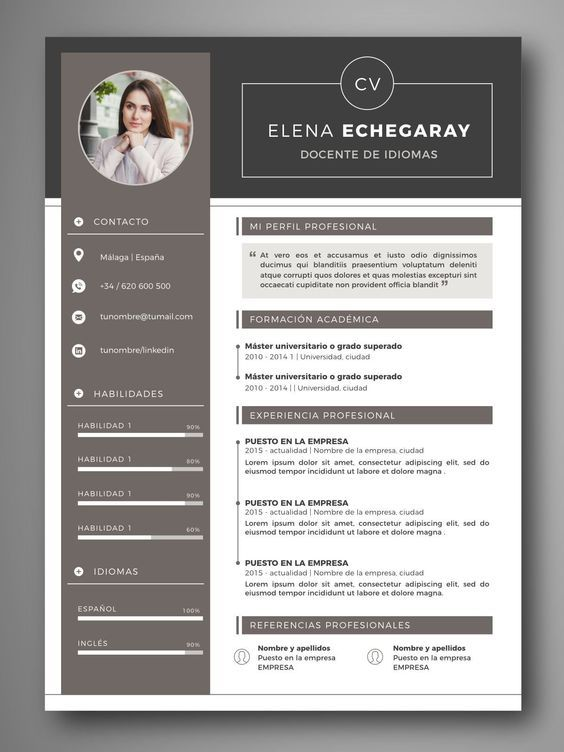 Pin By Valentinelry On Curriculum Vitae Resume Design Creative Resume Design Professional Curriculum Template