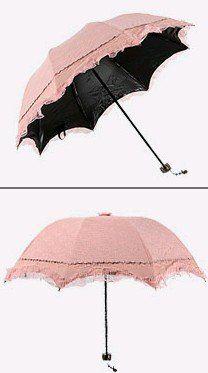 Amazon.com: Petty Cabin Beisheng Lace Double Layer Anti-UV Sun Umbrella Third Folding UV Protected Parasol (Pink)