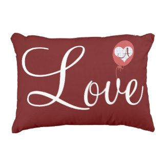 Custom Romantic Love Heart Red Balloon Monogram Accent Pillow, on http://www.zazzle.com/romantic_love_heart_red_balloon_monogram_manualwwaccentpillow-256938765432390193