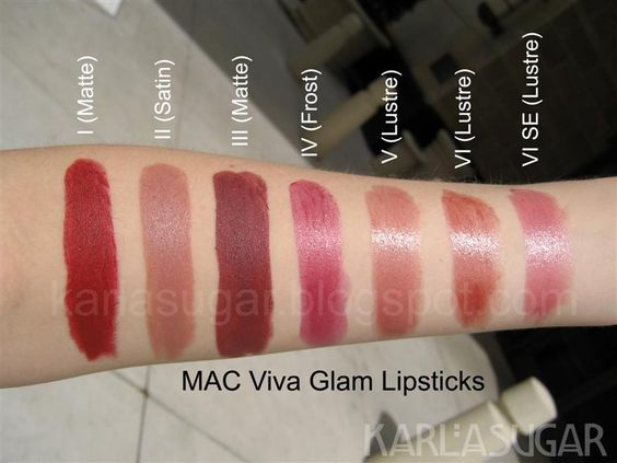 MAC Viva Glam Lipsticks, I to VI SE #Karla Sugar | Love ...