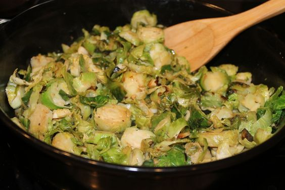 Ginger Garlic Brussel Sprouts