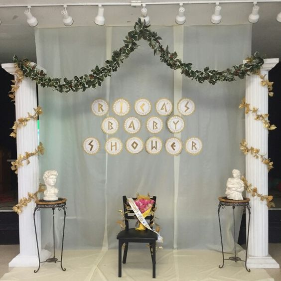 Greek Mythology Party Theme Google Search: Backdrop For The Stage Of The Greek-themed Baby Shower