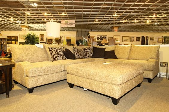 Comfy Sectional And Ottoman Colleen 39 S Classic Consignment Las Vegas Cozy Living Rooms