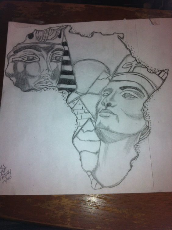 African queen tattoo, Queen tattoo and Outline drawings on ...