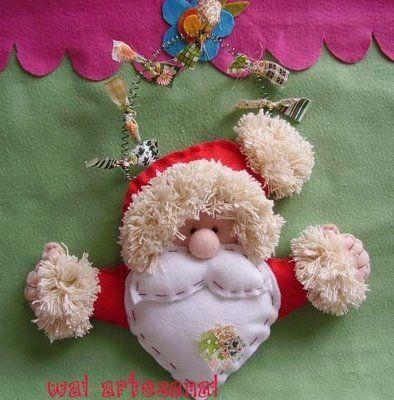 Manualidades navidad en fieltro con moldes pap noel - Manualidades con fieltro para navidad ...