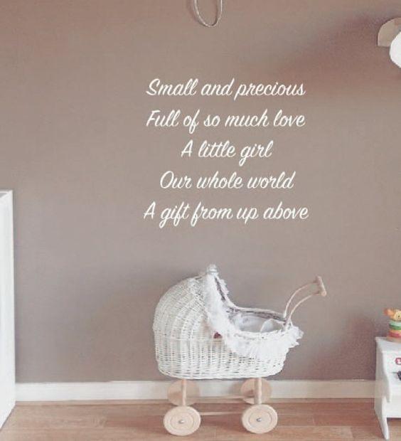 Precious Little Girl Nursery Decor Wall Decal by BerthmarkVinyl