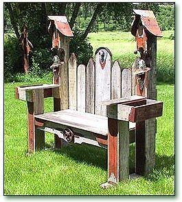 Double Birdhouse Bench Like our Facebook page! https://www.facebook.com/pages/Rustic-Farmhouse-Decor/636679889706127