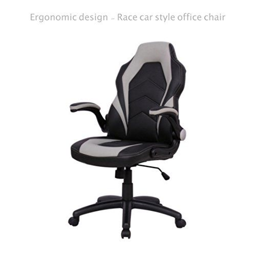 Executive Office Chair Racing Style Durable Pu Leather Ergonomic