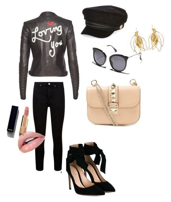 """Punk"" by ellen780313 on Polyvore featuring Gianvito Rossi, Valentino, Alice + Olivia, Paige Denim, Aurélie Bidermann, River Island, MINKPINK, Chanel, men's fashion and menswear"