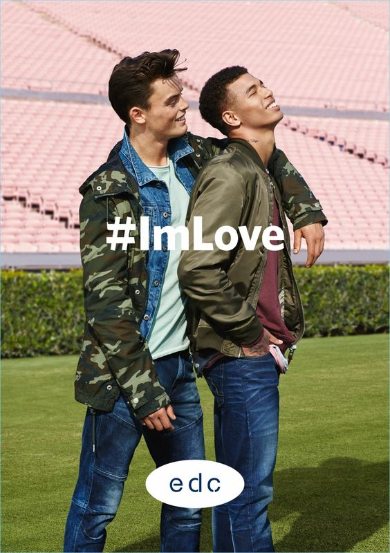 Alasdair Russell and Shae Pulver star in EDC by Esprit's spring-summer 2017 campaign.: