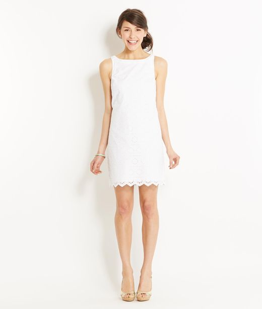 White vineyard vines dress