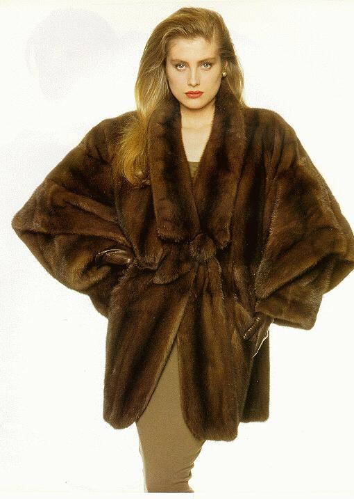Fur pelts and coats of Mink Sable Fox Chinchilla Coyote beaver