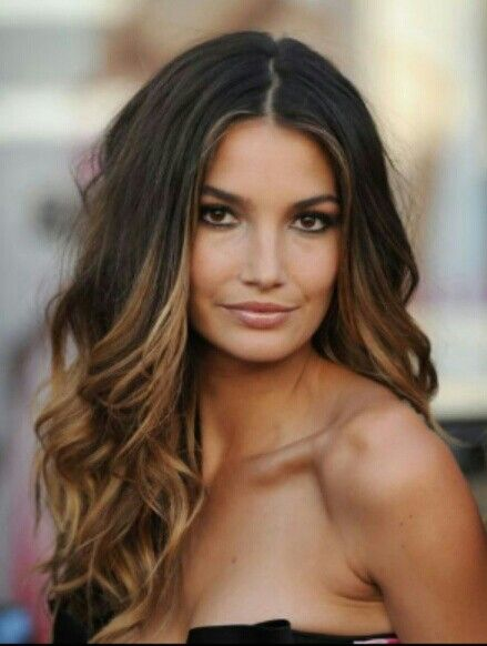 Victoria Secret model with Balayage colour ♥