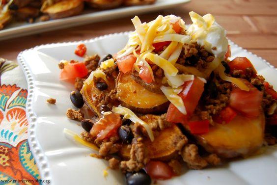 Southwest Baked Sweet Potatoes