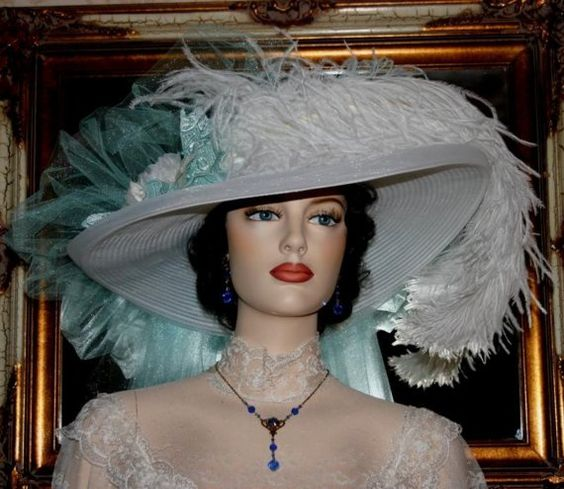 Tea Party Hat Victorian Hat Style New by eastangelharborhats, $169.00