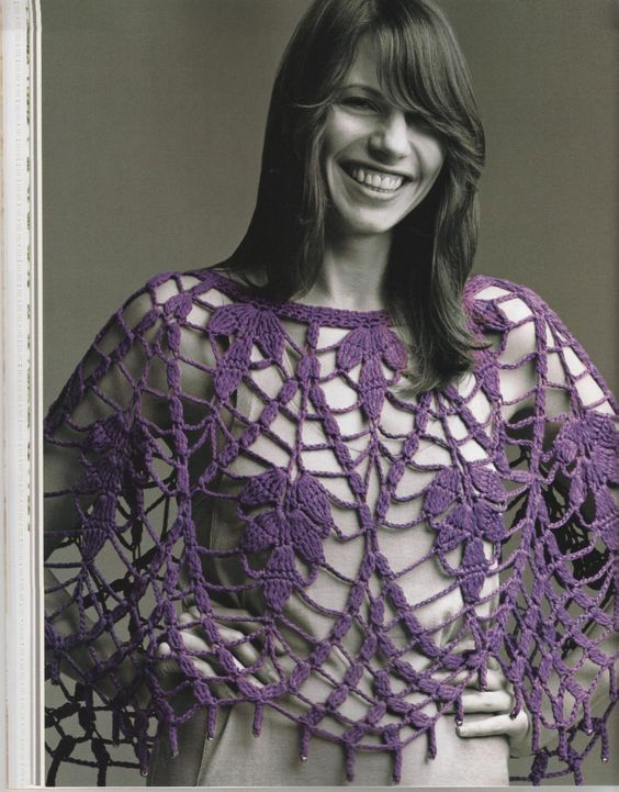 """Plum Blossom Capelet"" pattern can be found in  Amazing Lace Crochet (book)"
