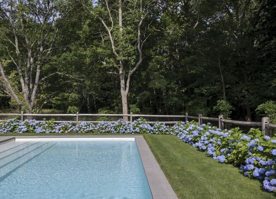 Tiina Laakkonen Amagansett Pool | Remodelista / steps on the long side of the pool: