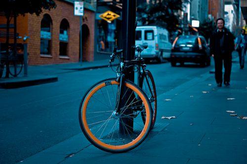 bici en la ciudad