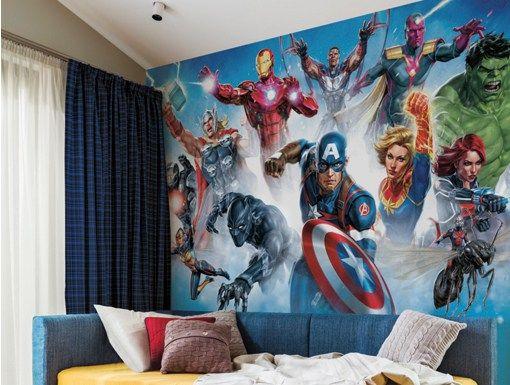Avenger Gallery Art Peel And Stick Mural 10 5 Ft X 6 Ft Mural Wallpaper Mural Art Gallery Mural Wallpaper