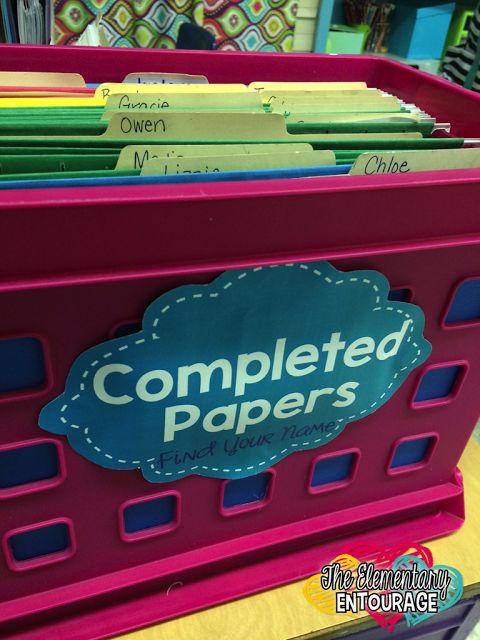 Tips for Managing Student Papers and getting ridding of that desk clutter!