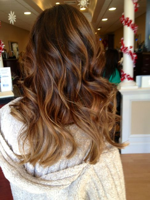 Partial Caramel Highlights For Dark Hair hair on pinterest partial ...